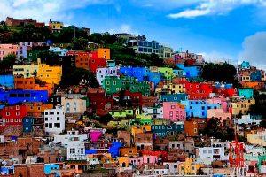 kleurrijke stad - Mexico